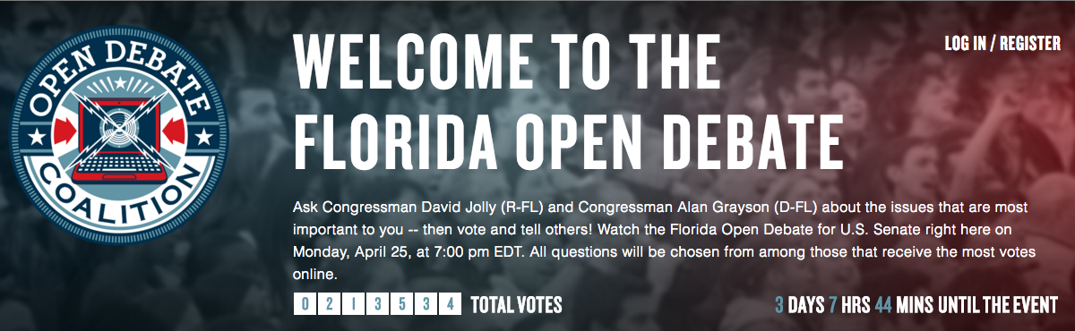 Florida Open Debate Platform Receives National Attention (The Atlantic, USA Today, Engadget)