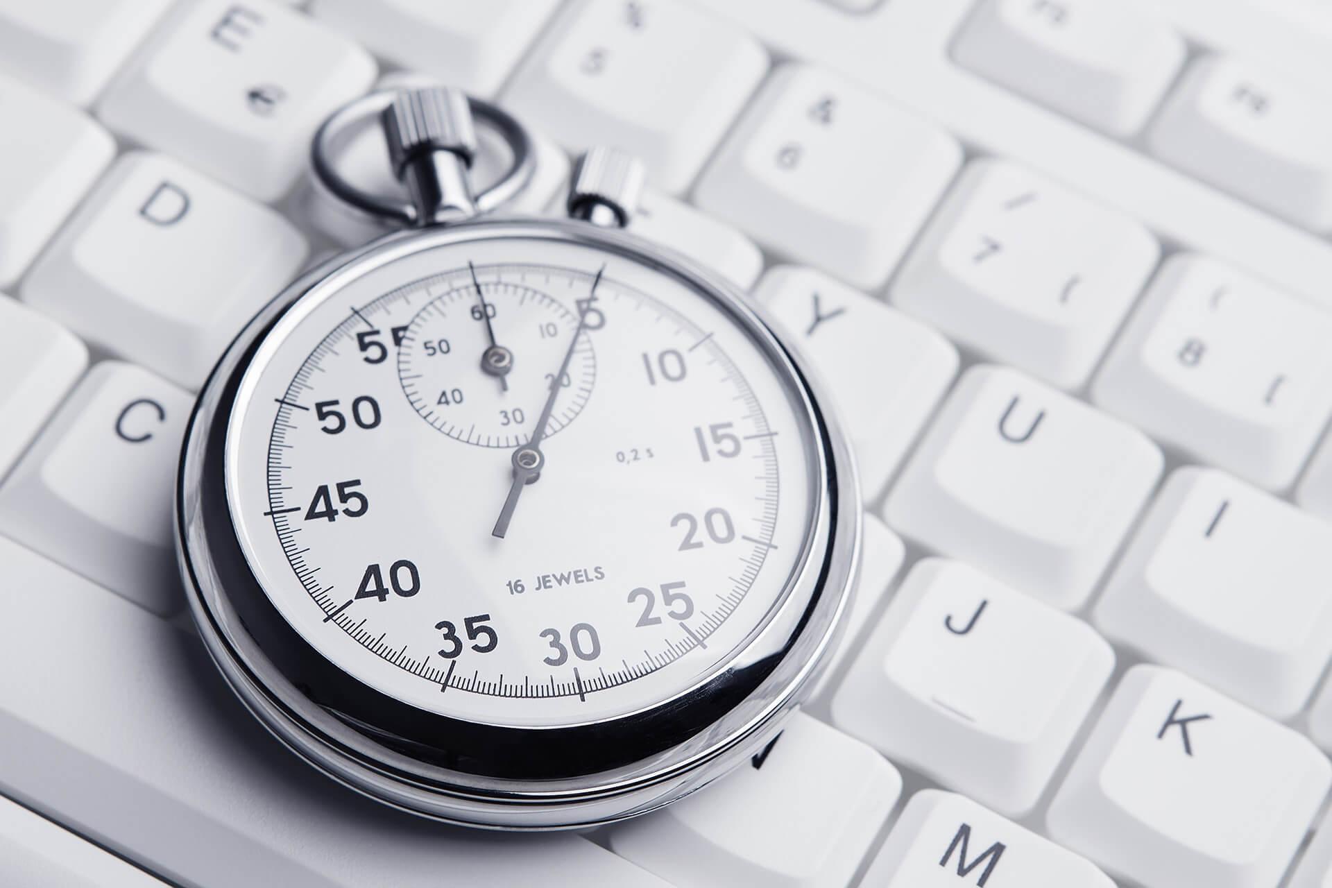 Stopwatch on keyboard