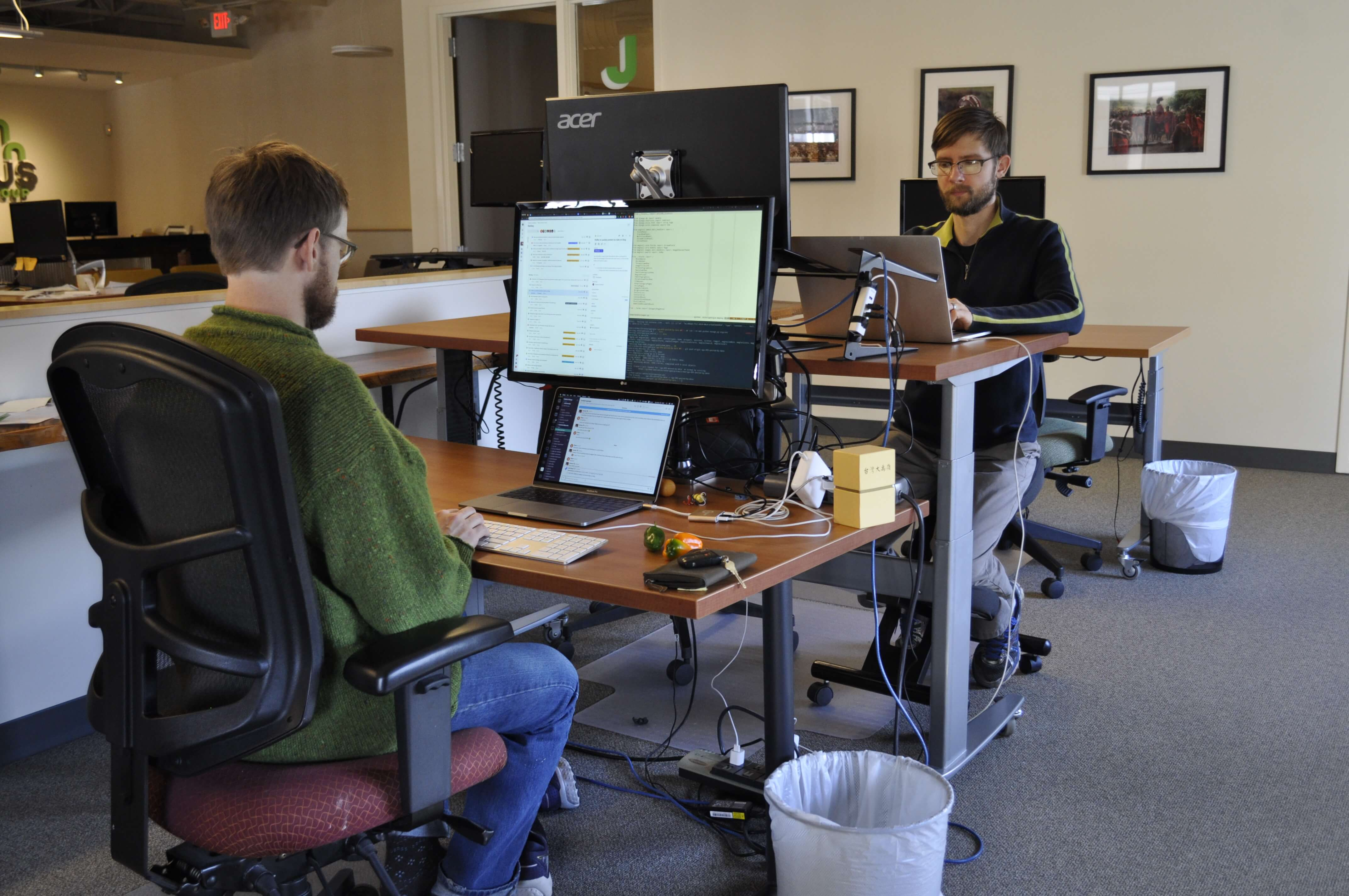 Developers working at their desks
