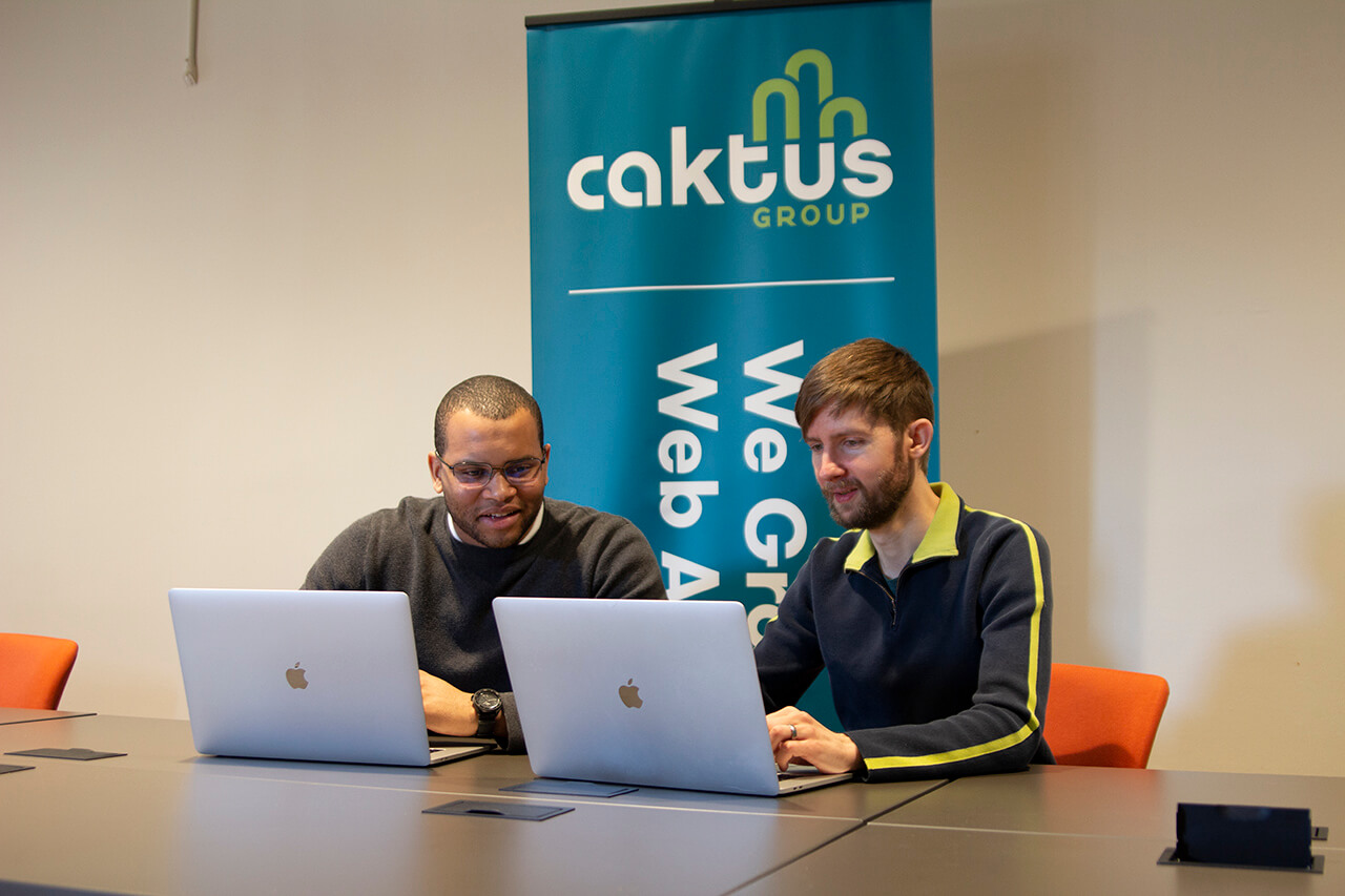 Two developers working together