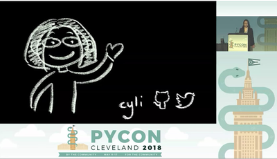 Screenshot of Ying Li's title page from her presentation at PyCon.