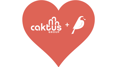 Caktus Group + Wagtail logos in a red heart