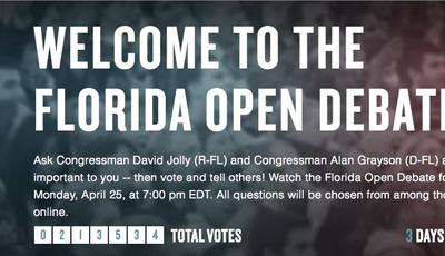 Florida Open Debate Site Powers First-Ever Crowd-Sourced Open Senate Debate