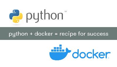Python and Docker logos