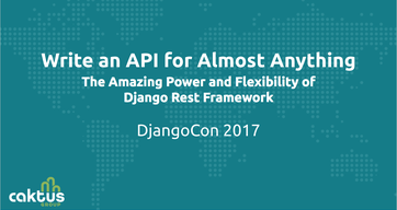 """Cover slide for the presentation, """"Write an API for Almost Anything""""."""